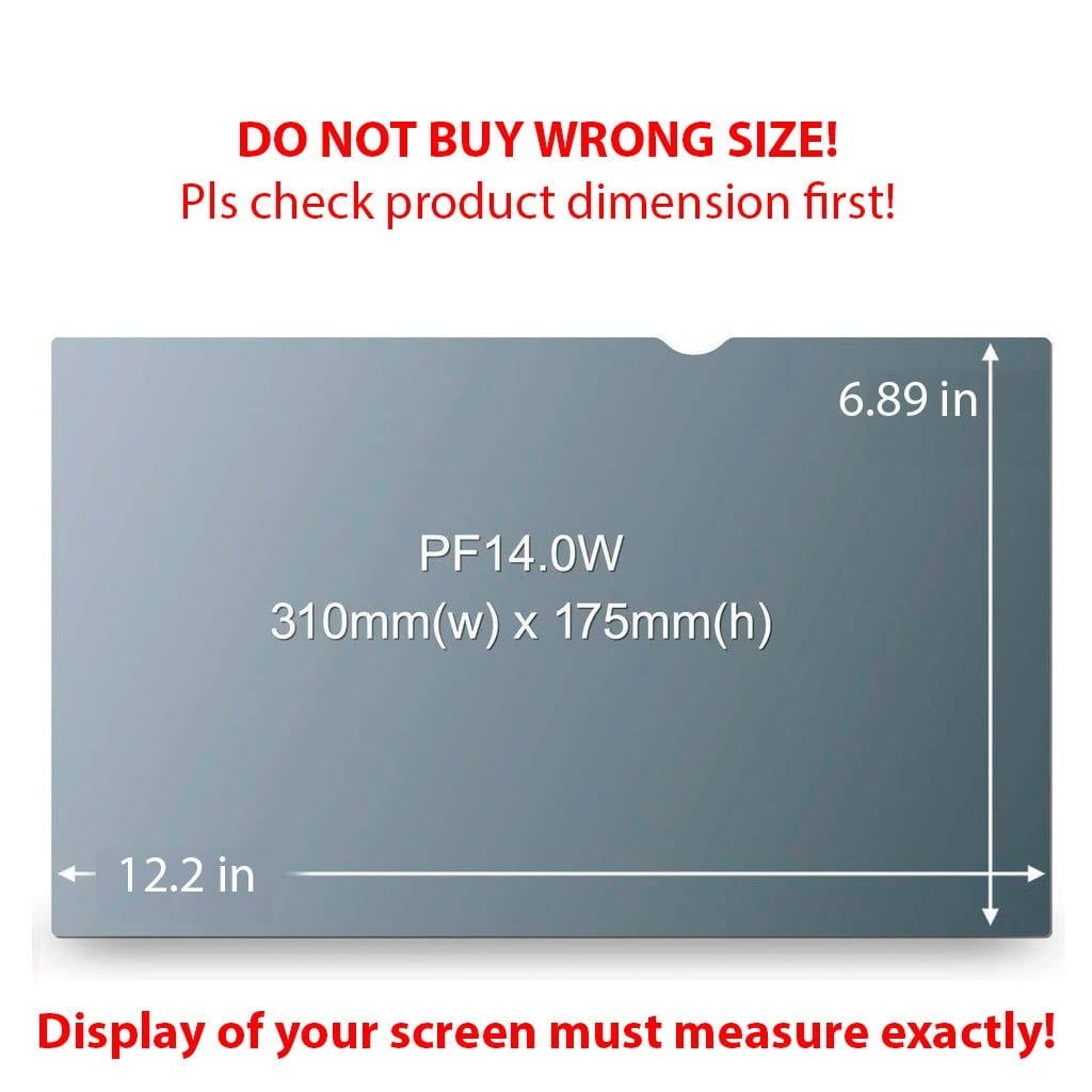 140 inch privacy filter